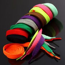 48''L Flat Colored Shoe Lace Sneakers Canvas Shoelace Bootlace Strings Wholesale