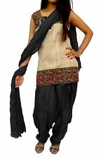 Indian Patiala Salwar For Top Kurti Casual Wear Black Color For Girl's / Women
