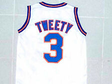 TWEETY BIRD #3 TUNE SQUAD SPACE JAM JERSEY WHITE NEW ANY SIZE XS - 5XL