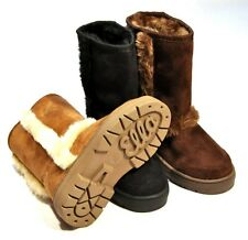 Child Snug Faux Fur Side Trim Hug Boots Ella London Kid