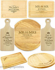 PERSONALISED Wooden Wood Kitchen CHOPPING BOARD Boards Food Cutting Worktop for