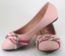Blush Flat with braided toe detail