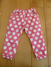 MARKS AND SPENCER PINK SPOT MESH LINED WATER RESISTANT TROUSERS 18 24 3 4 BNWT