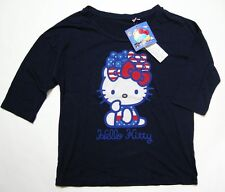 UNIQLO WOMEN SANRIO HELLO KITTY 3/4 SLEEVE GRAPHIC T-SHIRT NAVY (075424)