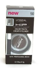 L'OREAL HIGH INTENSITY PIGMENTS (HIP) COLOR TRUTH CREAM EYELINER WITH BRUSH