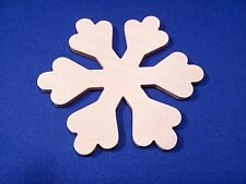 Snowflake Wooden Craft Shape Various Sizes & Qtys Winter Christmas Snow Xmas