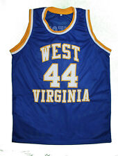JERRY WEST - WEST VIRGINIA MOUNTAINEERS JERSEY BLUE NEW ANY SIZE XS - 5XL