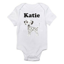 PERSONALISED NAMED DALMATIAN - Spotty Dog / Boy / Girl Themed Baby Grow / Suit
