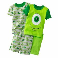 NWT Disney/Pixar Monsters Inc Mike 2-pc Pajama Set Size's 2T - 3T - 4T U Choose