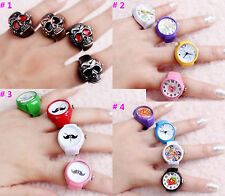 Mens Gothic Steampunk Vintage Skull Cover Finger Beard Cute Ring Watch Cool