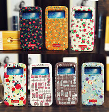 Premium Leather Flip Slim Cover S-View Smart Case for Samsung Galaxy S4 IV i9500