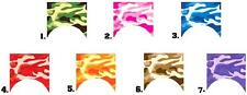 Nail Decals Set of 10 - Colorful Camo Camouflage Nail Tips