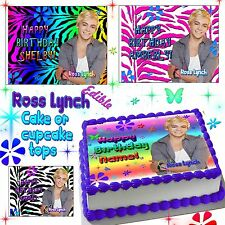Ross Lynch cake toppers Edible image sugar decal birthday austin and ally