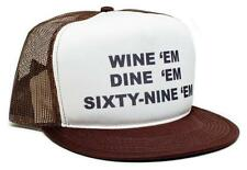New Retro WINE 'em DINE SIXTY-NINE 69 Dumb and Dumber Sea-bass Hat Cap Flat Bill