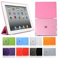 For Apple New iPad 4 iPad 3/2 Smart Cover Skin Case and Crystal Clear Hard Back