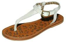 BNIB Buckle my Shoe BMS CRISTAL White Girls Leather Toe Post Sandals TRACKED DEL