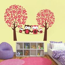 Mega Pack Happy Night Owl Family Nursery Wall Art Decal, Wall Stickers - PD390