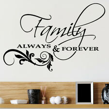 ALWAYS AND FOREVER wall quote decal love sticker bedroom vinyl art quotes decor