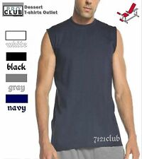 1 New PROCLUB HEAVY WEIGHT SLEEVELESS MUSCLE plain T-shirt PRO CLUB blank M- 7XL