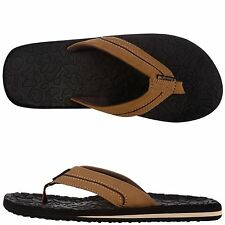 MENS BROWN/BLACK AMERICAN EAGLE FLIP FLOPS/SHOES SIZES 7 OR 8 ~ NEW IN PACKAGE