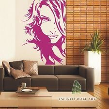 Sexy Woman's Face Wall Art Sticker, Sexy Wall Art Decal Stickers - PD124