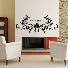 SWEET HOME�wall sticker lounge quote bedroom decal art vinyl living room quotes