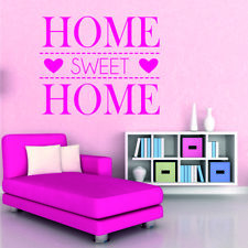 SWEET HOME wall stickers lounge bedroom quote decal vinyl sign living room decor
