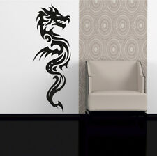 DRAGON wall stickers oriental chinese winged mythical tribal transfer art vinyl