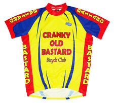 Cranky Old Bastard Bicycle Club Team Cycling Jersey Yellow Men's Short Sleeve
