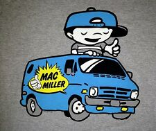 "New! Mac Miller ""Boy On Van"" Music Rapper Concert Tour Adult T-Shirt"