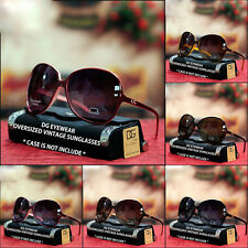 New Womens DG Eyewear Retro Vintage Oversized Sunglasses Plastic Large Shades UV
