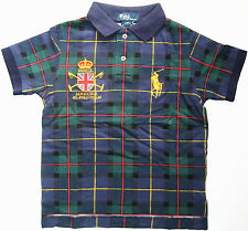 NEW Polo Ralph Lauren Kids, Toddlers Boy Big Pony MMIX Mercer Green Plaid Shirt