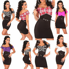 WOMEN CLUBBING SEXY PARTY CASUAL formal BUSINESS LADIES MINI DRESS SIZE 6 8 10