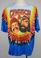 NWT Cheech and Chongs Mens Tie Dye  Shirt Tee up in smoke T-shirt Multi Color
