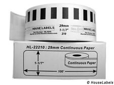 DK-2210 Brother-Compatible White (Continuous) Labels in Mini-Cartons [BPA FREE]