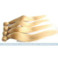 "14""-24"" Brazilian Virgin Straight Human Hair Weaving Weft Extension 50g Blonde"