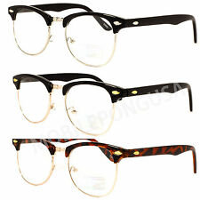 New Mens Womens Classic Vintage Retro Master Eyeglasses Stylish Clear Lens Black