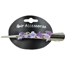 CONCORDE HAIR GRIP PURPLE FLOWER BEAK CLIP ALLIGATOR CROCODILE BARRETTE SLIDE