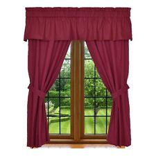 Window Panel Curtain - 5 Piece Set Includes 2 Panels, 1 Valance & 2 Tie Backs