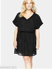 womens so fabulous black batwing embellished dress size 22 nwt new