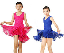 Kid's Child Girls Latin Dance Dancewear Showing Dress Dp056