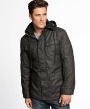 NEW INC DARK OLIVE HOODED WATER REPELLANT HASSE FILLED JACKET COAT