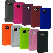 NEW AMZER RUBBER SILICONE SOFT SKIN CASE COVER FOR HTC DROID INCREDIBLE PB31200
