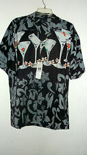 NWT SIX MARTINI LUNCH  HAWAIIAN SHIRT BY OSCA MISA  PIC SIZE S TO 2X