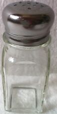 Square 2 Oz Salt & Pepper Shaker with Clear Glass ( New )