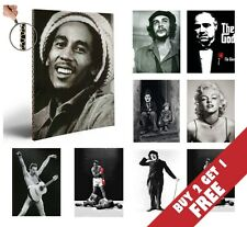 LEGEND ICONS FAMOUS A4 POSTERS GLOSSY PHOTO PRINT *GIFT IDEA FOR FANS Wall Decor