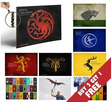 GAME OF THRONES TV SERIES POPULAR POSTERS * PHOTO ON CARDBOARD * GREAT GIFT IDEA