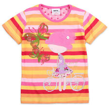 New girls summer embroider appliqué shirts tops clothing tshirt size 1 2 3 4 5 6
