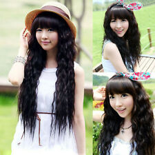 Sexy Womens Ladies Long Curly Full Hair Wigs Cosplay Fluffy Wavy Wig with Bangs