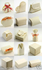 Best Quality DIY Ivory Silk Embossed Wedding Favour Favor Boxes